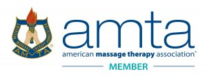 a logo that says AMTA American Massage Therapy Association Member